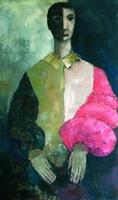 Pierrot in kleuren  70x100cm